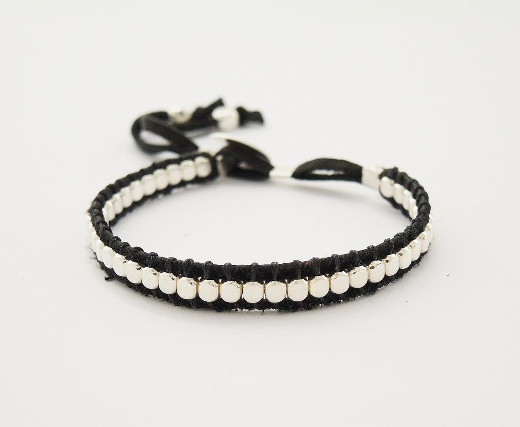 bracelet cuir et argent 925 1000 un 2 plus shy femme un 2 plus shyf05. Black Bedroom Furniture Sets. Home Design Ideas