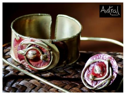 Bijoux Austral Cuivre - Bracelet B086 et Bague R086