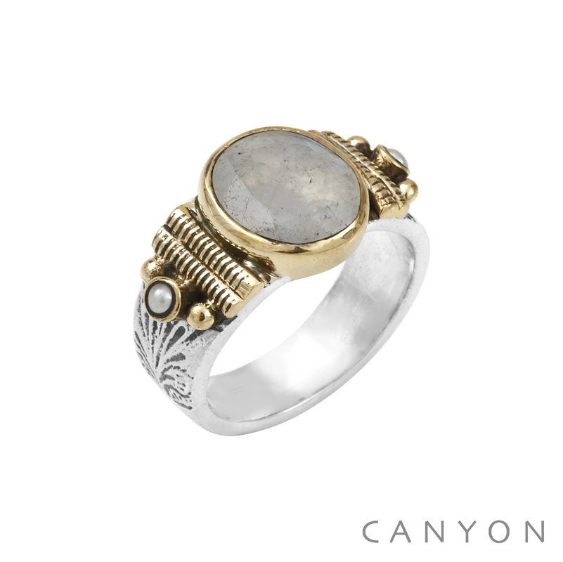bague canyon en argent 925 1000 taille 56 pierre de lune canyon bijoux r4871t56 vente de. Black Bedroom Furniture Sets. Home Design Ideas
