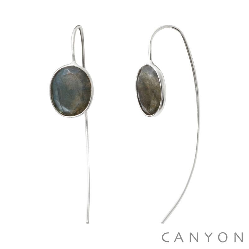 Boucles d oreilles Argent 925 1000 Labradorite Canyon Bijoux Canyon ... 345ff7df7c2