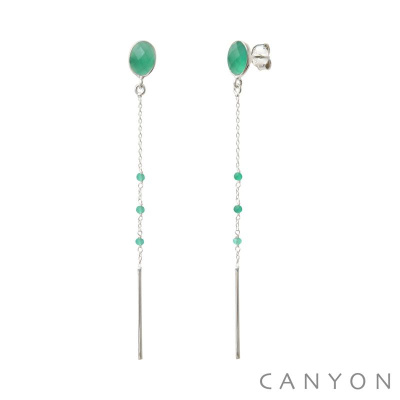 Boucles d Oreilles Argent 925 1000 Quartz Vert Canyon Bijoux Canyon ... 57f91724084